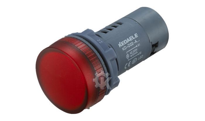 220v红色led指示灯电路
